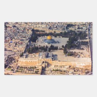 Temple Mount Old City Jerusalem Dome of the Rock Rectangular Sticker