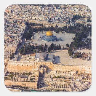 Temple Mount Old City Jerusalem Dome of the Rock Square Sticker