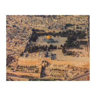 Temple Mount Old City Jerusalem Dome of the Rock Wood Print
