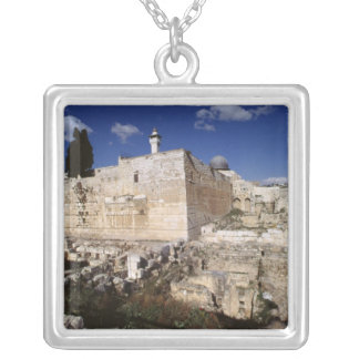 Temple Mount Silver Plated Necklace