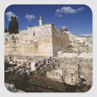 Temple Mount Square Sticker
