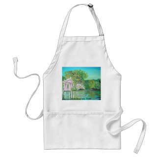 Temple of Aesculapius, Borghese Park, RomeApron Adult Apron