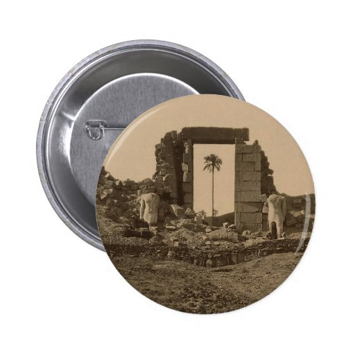 Temple of Amenophis, Egypt circa 1867 2 Inch Round Button