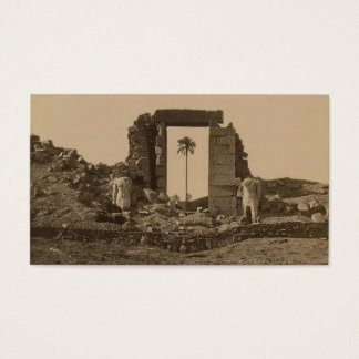 Temple of Amenophis, Egypt circa 1867 Business Card