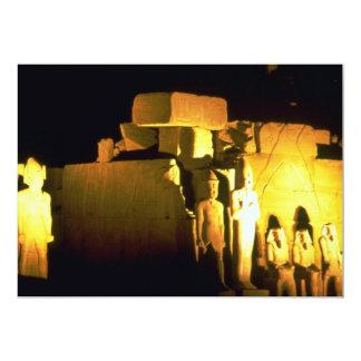 """Temple of Amon, Karnak Temple, Luxor, Egypt Desert 5"""" X 7"""" Invitation Card"""
