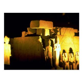 Temple of Amon, Karnak Temple, Luxor, Egypt Desert Postcard