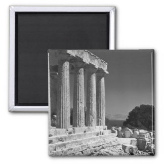 Temple of Aphaea 2 Inch Square Magnet