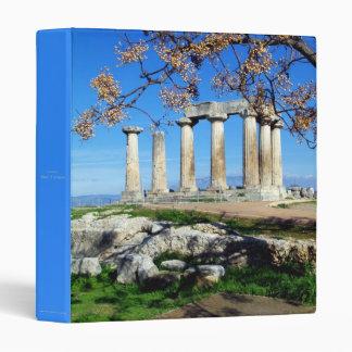 Temple of Apollo – Corinth 3 Ring Binder