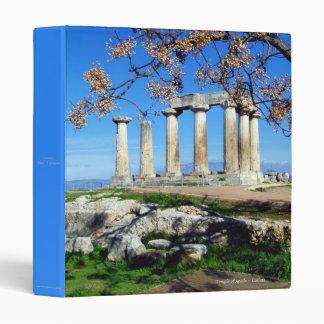 Temple of Apollo – Corinth Vinyl Binder