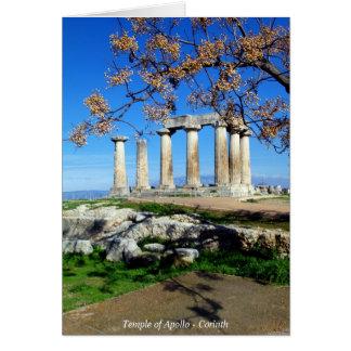 Temple of Apollo – Corinth Card