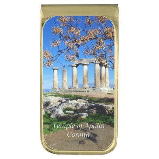 Temple of Apollo – Corinth Gold Finish Money Clip