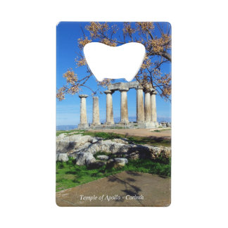 Temple of Apollo – Corinth Credit Card Bottle Opener