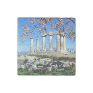 Temple of Apollo – Corinth Stone Magnet