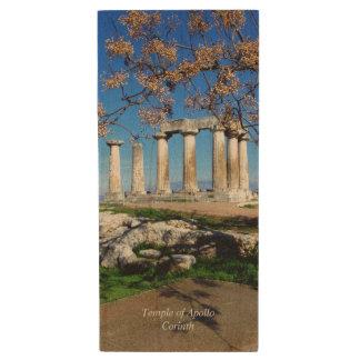 Temple of Apollo – Corinth Wood Flash Drive