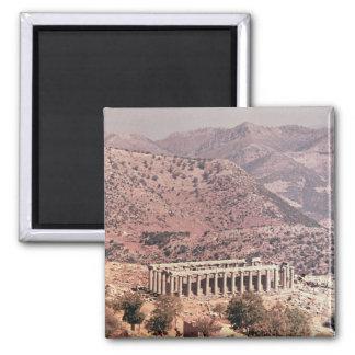 Temple of Apollo Epikourios, c.450-20 BC 2 Inch Square Magnet