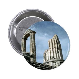 Temple Of Apollo Turkey Pinback Button