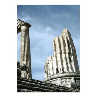 """Temple Of Apollo, Turkey 5"""" X 7"""" Invitation Card"""