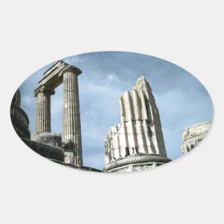 Temple Of Apollo, Turkey Oval Sticker