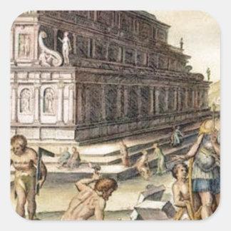 Temple of Artemis by Maerten van Heemskerck Square Sticker