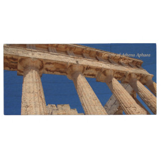 Temple of Athena Aphaea – Aegina Wood Flash Drive