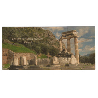 Temple of Athena Pronaea - Delphi Wood Flash Drive