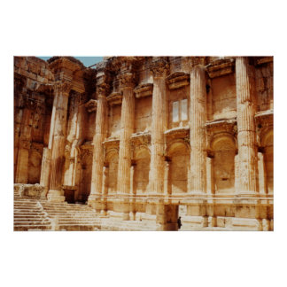 Temple of Bacchus Poster