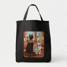Temple of Bastet Egypt Bast Goddess Cat Art Bag