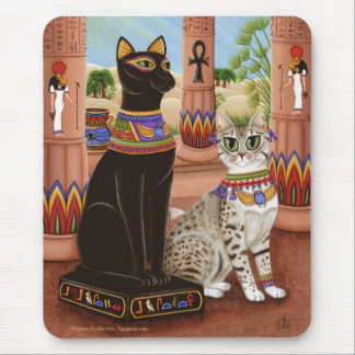 Temple of Bastet Egypt Bast Goddess Cat Mousepad