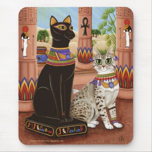 Temple of Bastet Egypt Bast Goddess Cat Mousepad
