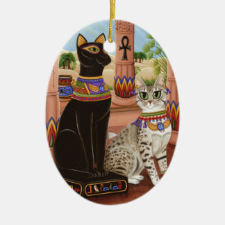 Temple of Bastet Egypt Bast Goddess Cat Ornament
