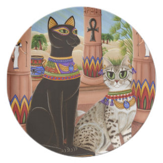 Temple of Bastet Egypt Bast Goddess Cat Plate