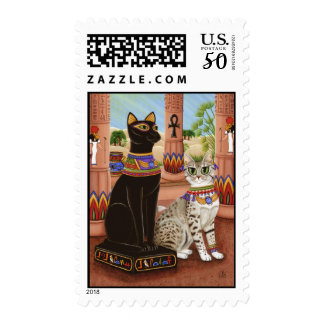 Temple of Bastet Egypt Bast Goddess Cat Postage