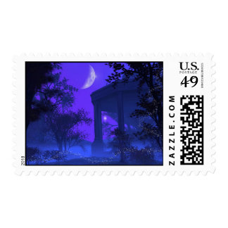 Temple of Diana in the Moonlight Postage