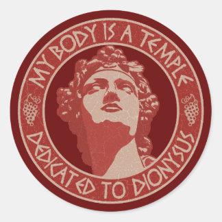 Temple of Dionysus Classic Round Sticker