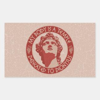Temple of Dionysus Rectangular Sticker