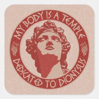 Temple of Dionysus Square Sticker