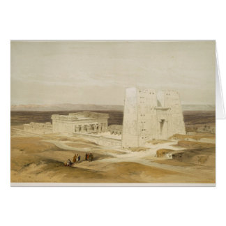 Temple of Edfu, ancient Apollinopolis, Upper Egypt Card