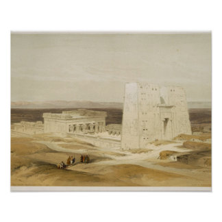 Temple of Edfu, ancient Apollinopolis, Upper Egypt Poster