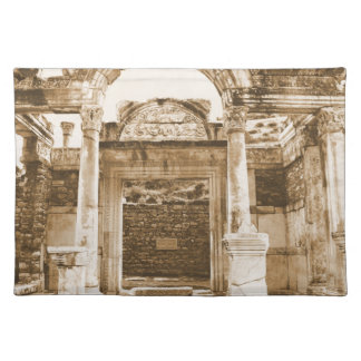 Temple of Hadrian in Ephesus VINTAGE photograph Cloth Placemat