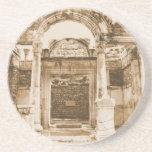 Temple of Hadrian in Ephesus VINTAGE photograph Drink Coasters