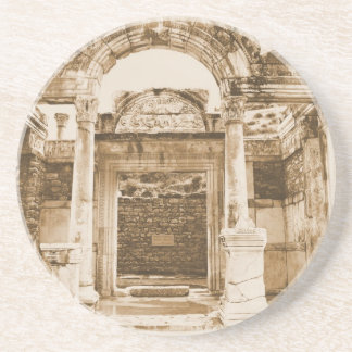 Temple of Hadrian in Ephesus VINTAGE photograph Coasters