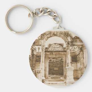 Temple of Hadrian in Ephesus VINTAGE PHOTOGRAPH Keychain