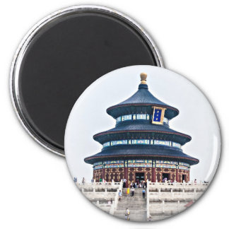 Temple of Heaven 2 Inch Round Magnet