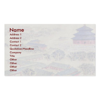 Temple Of Heaven Business Card