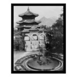 Temple of Heaven Seoul Korea 1925 Poster