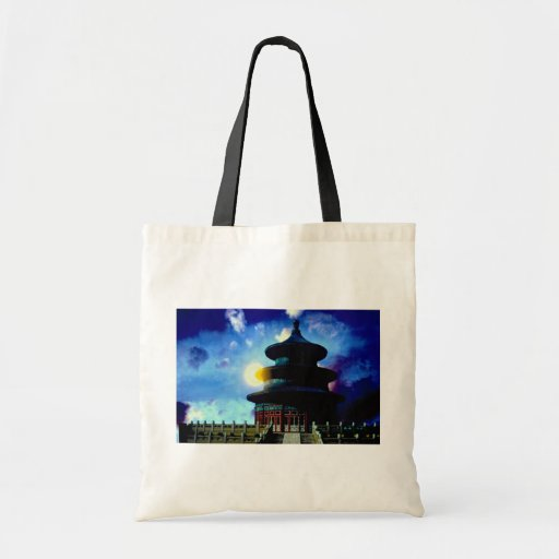 Temple of Heaven with sun Budget Tote Bag
