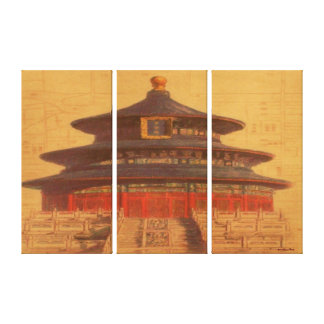 Temple Of Heaven Wrapped Canvas