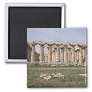 Temple of Hera I 2 Inch Square Magnet