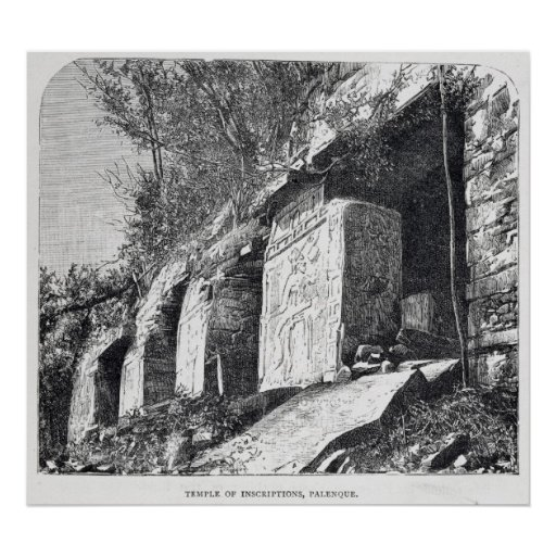 Temple of Inscriptions, Palenque Poster