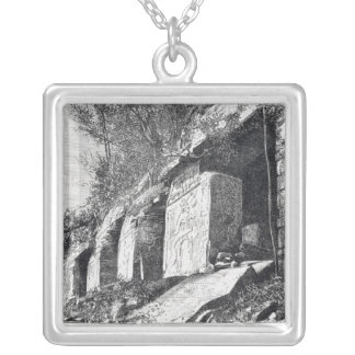 Temple of Inscriptions, Palenque Silver Plated Necklace